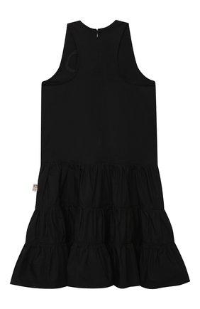 Детское хлопковое платье N21 черного цвета, арт. N21068/N0015/N21D41F | Фото 2