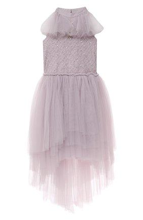 Детское хлопковое платье TUTU DU MONDE сиреневого цвета, арт. TDM6425/4-11 | Фото 1