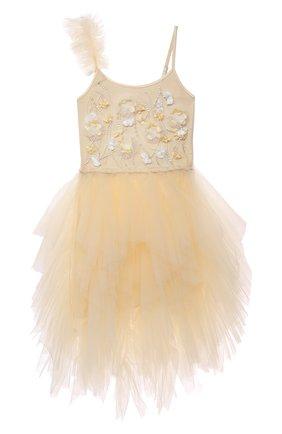Детское платье TUTU DU MONDE желтого цвета, арт. TDM6423/4-11 | Фото 1