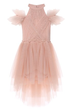Детское хлопковое платье TUTU DU MONDE розового цвета, арт. TDM6208/4-11 | Фото 1