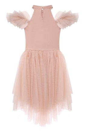 Детское хлопковое платье TUTU DU MONDE розового цвета, арт. TDM6208/4-11 | Фото 2