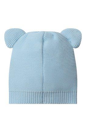 Детского хлопковая шапка MOSCHINO голубого цвета, арт. MUX03F/LHE13 | Фото 2