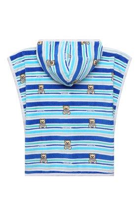 Детского хлопковое полотенце-пончо MOSCHINO синего цвета, арт. MUX03E/LGA10 | Фото 2