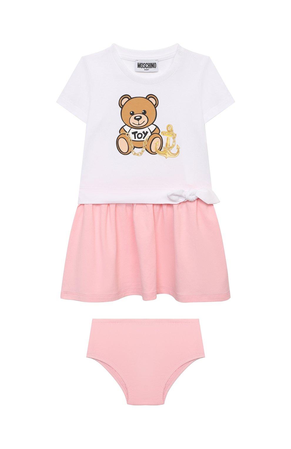 Женский комплект из платья и шорт MOSCHINO розового цвета, арт. MDV08R/LBA00 | Фото 1
