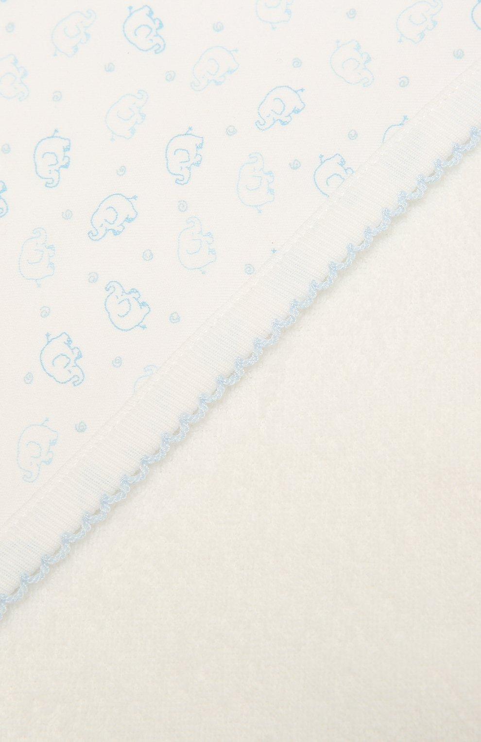 Детского комплект из полотенца и рукавицы KISSY KISSY голубого цвета, арт. 48609 | Фото 4