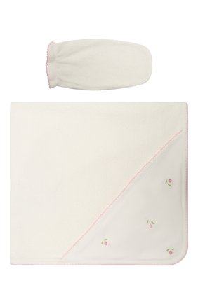 Детского комплект из полотенца и рукавицы KISSY KISSY разноцветного цвета, арт. 24309 | Фото 1
