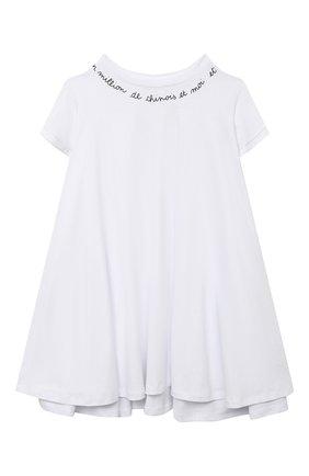 Детское платье-футболка SCRAMBLED_EGO белого цвета, арт. 12033 | Фото 1