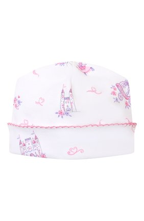 Детского хлопковая шапка KISSY KISSY розового цвета, арт. KG505916N | Фото 1
