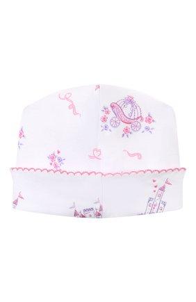 Детского хлопковая шапка KISSY KISSY розового цвета, арт. KG505916N | Фото 2