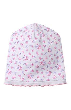 Детского хлопковая шапка KISSY KISSY розового цвета, арт. KG505917N | Фото 1 (Материал: Текстиль, Хлопок)