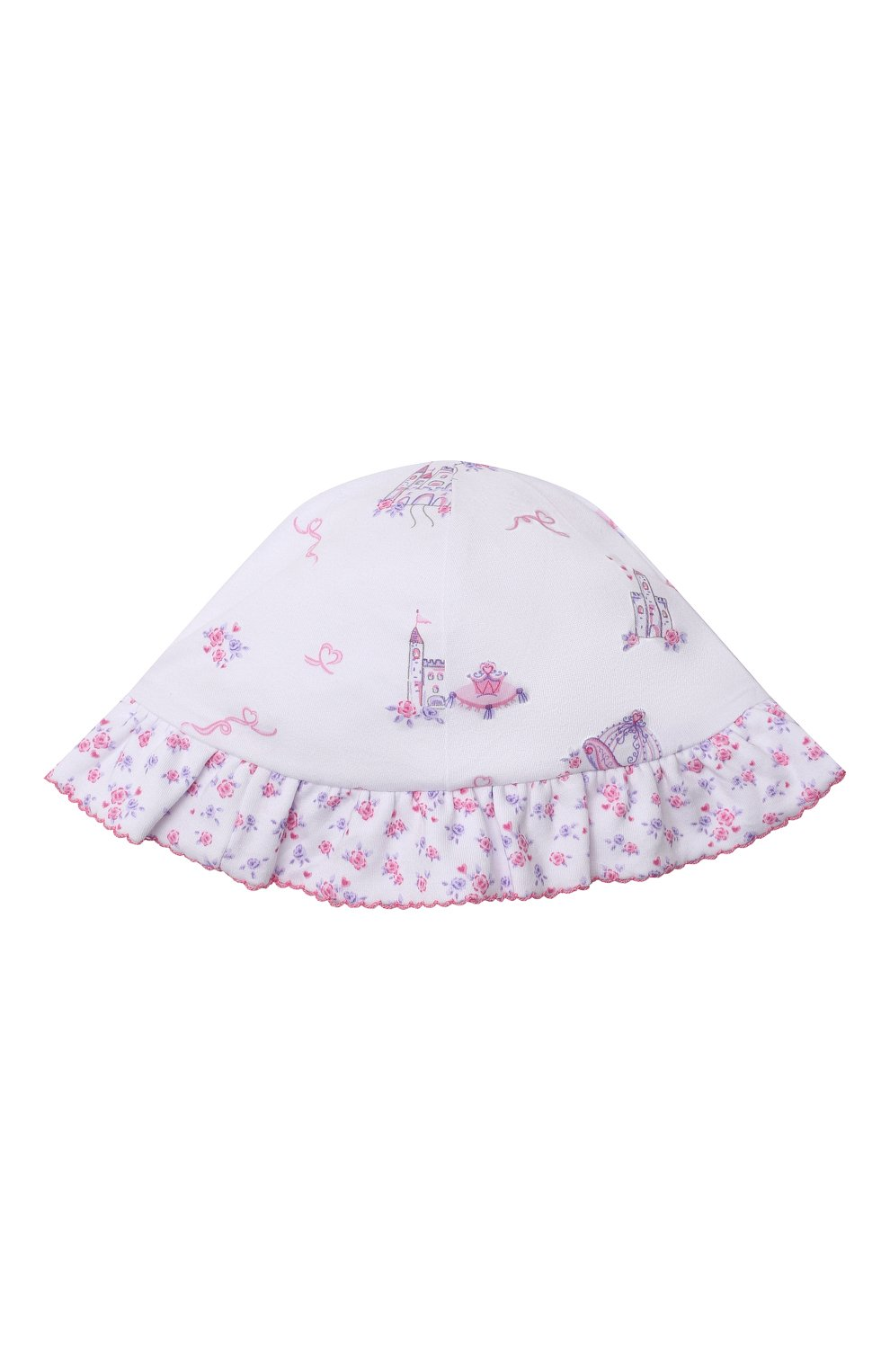 Детская хлопковая панама KISSY KISSY розового цвета, арт. KG505918N   Фото 1
