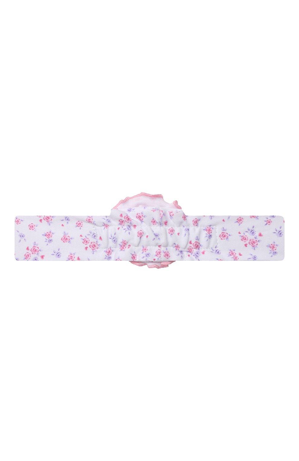 Детская повязка KISSY KISSY розового цвета, арт. KG5059190 | Фото 2 (Материал: Текстиль, Хлопок)