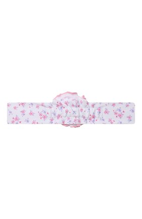 Детская повязка KISSY KISSY розового цвета, арт. KG5059190 | Фото 2 (Материал: Хлопок, Текстиль)