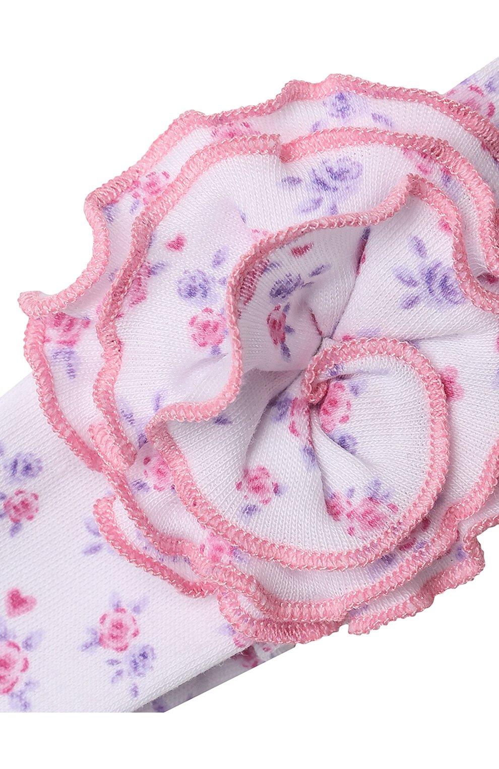 Детская повязка KISSY KISSY розового цвета, арт. KG5059190 | Фото 3 (Материал: Текстиль, Хлопок)