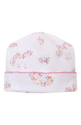 Детского хлопковая шапка KISSY KISSY розового цвета, арт. KG506002N | Фото 1