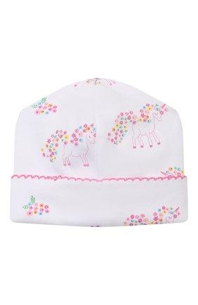 Детского хлопковая шапка KISSY KISSY розового цвета, арт. KG506002N | Фото 2