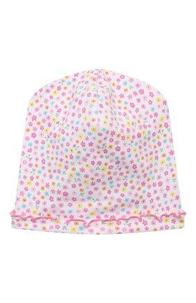 Детского хлопковая шапка KISSY KISSY розового цвета, арт. KG506003N | Фото 1