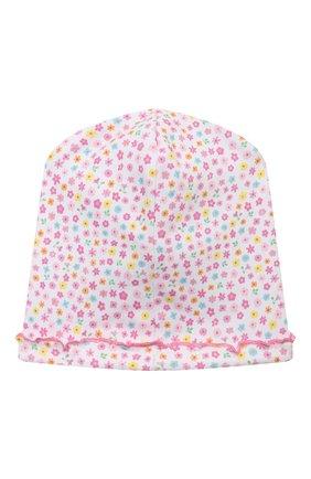 Детского хлопковая шапка KISSY KISSY розового цвета, арт. KG506003N | Фото 2