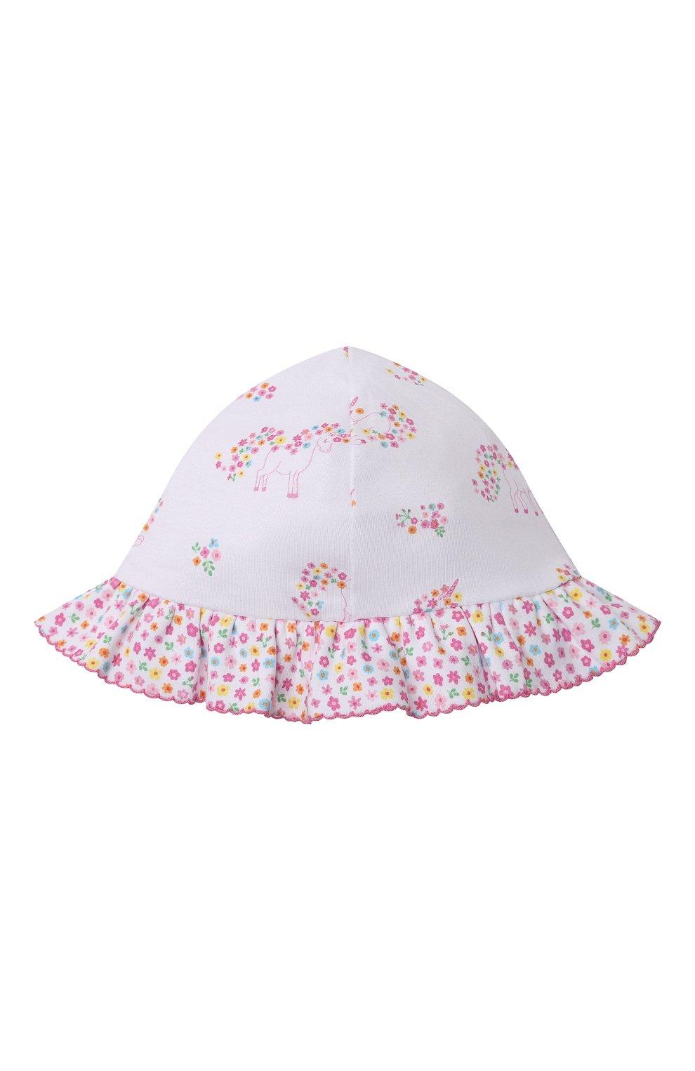 Детская хлопковая панама KISSY KISSY розового цвета, арт. KG506004N | Фото 1