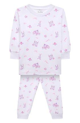 Детская хлопковая пижама KISSY KISSY розового цвета, арт. KG605911P | Фото 1