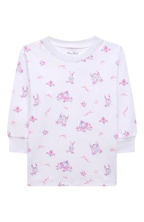 Детская хлопковая пижама KISSY KISSY розового цвета, арт. KG605911P | Фото 2