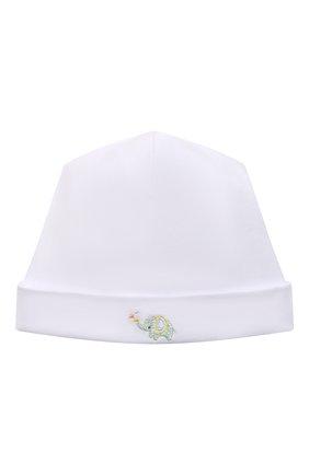 Детского хлопковая шапка KISSY KISSY белого цвета, арт. KN505985N | Фото 1