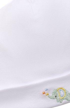 Детского хлопковая шапка KISSY KISSY белого цвета, арт. KN505985N | Фото 3