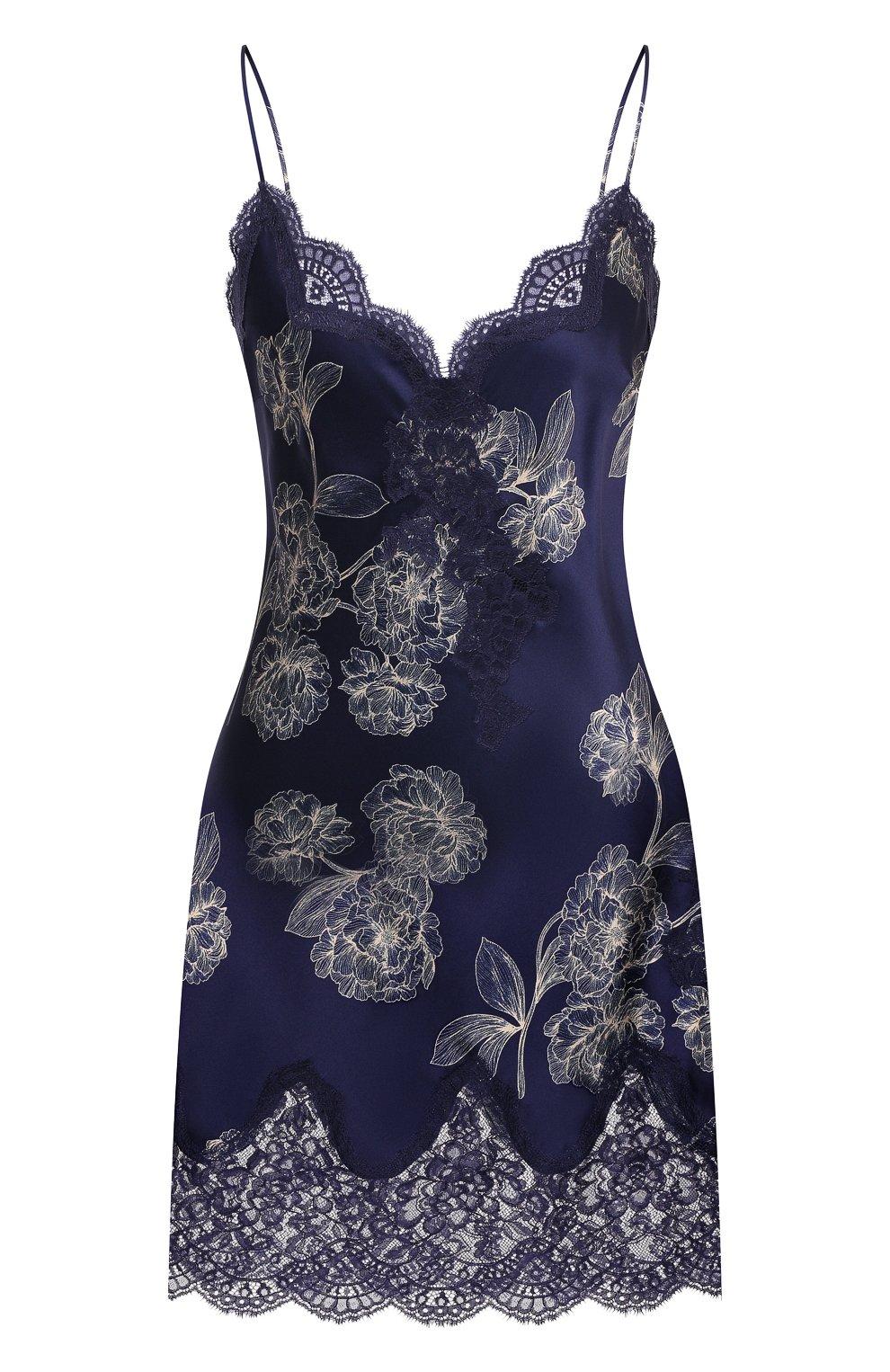 Женская шелковая сорочка AUBADE темно-синего цвета, арт. QS40-1 | Фото 1