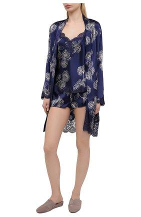Женские шелковые шорты AUBADE темно-синего цвета, арт. QS61-1 | Фото 2