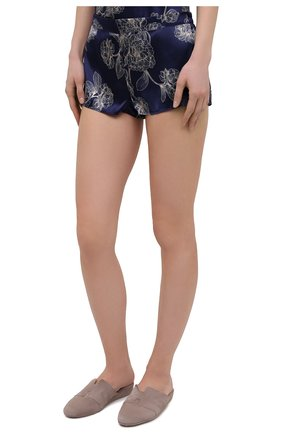 Женские шелковые шорты AUBADE темно-синего цвета, арт. QS61-1 | Фото 3