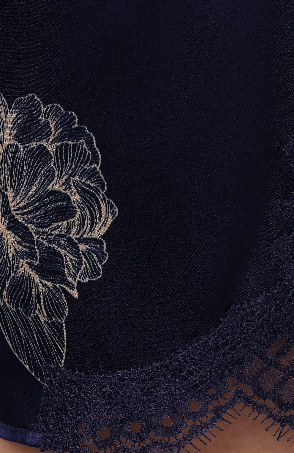 Женские шелковые шорты AUBADE темно-синего цвета, арт. QS61-1 | Фото 5