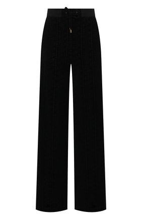 Женские хлопковые брюки BALMAIN черного цвета, арт. VF20B010/B090 | Фото 1