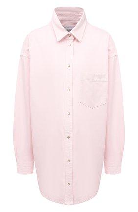 Женская хлопковая рубашка FORTE DEI MARMI COUTURE розового цвета, арт. 21SF9151-1 | Фото 1