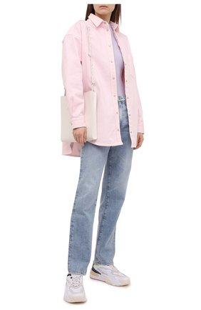 Женская хлопковая рубашка FORTE DEI MARMI COUTURE розового цвета, арт. 21SF9151-1 | Фото 2
