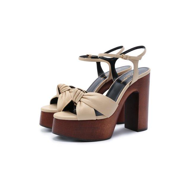 Кожаные босоножки Bianca Saint Laurent