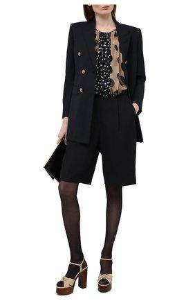 Женские кожаные босоножки bianca SAINT LAURENT бежевого цвета, арт. 649087/20500 | Фото 2 (Материал внутренний: Натуральная кожа; Каблук высота: Высокий; Подошва: Платформа; Каблук тип: Устойчивый)