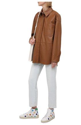 Женские кожаные кеды sl/06 SAINT LAURENT белого цвета, арт. 650979/00NB0 | Фото 2