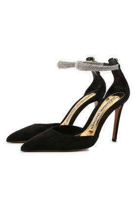 Женские замшевые туфли ALEXANDRE VAUTHIER черного цвета, арт. R0SALIAPUMP   Фото 1
