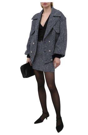 Женская куртка ALESSANDRA RICH синего цвета, арт. FAB2500-F3188 | Фото 2