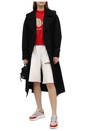 Женские хлопковые шорты FORTE DEI MARMI COUTURE кремвого цвета, арт. 21SF9081 | Фото 2