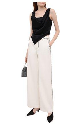 Женские брюки AREA белого цвета, арт. RE21P09032 | Фото 2
