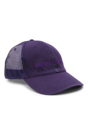 Женская хлопковая бейсболка HERON PRESTON фиолетового цвета, арт. HWLB004R21FAB0013535 | Фото 1