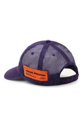 Женская хлопковая бейсболка HERON PRESTON фиолетового цвета, арт. HWLB004R21FAB0013535 | Фото 2