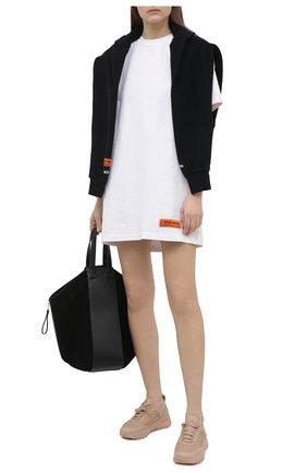 Женское хлопковое платье HERON PRESTON белого цвета, арт. HWDB044R21JER0010110 | Фото 2