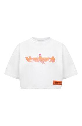 Женская хлопковая футболка HERON PRESTON белого цвета, арт. HWAA028R21JER0010120 | Фото 1
