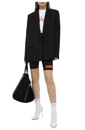 Женская хлопковая футболка HERON PRESTON белого цвета, арт. HWAA028R21JER0010120 | Фото 2