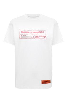 Женская хлопковая футболка HERON PRESTON белого цвета, арт. HWAA025R21JER0010130 | Фото 1