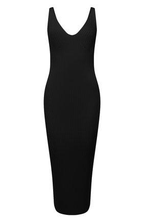 Женское платье из вискозы BALMAIN черного цвета, арт. VF0RH010/K252 | Фото 1 (Длина Ж (юбки, платья, шорты): Миди; Материал внешний: Вискоза; Случай: Повседневный; Рукава: Без рукавов; Женское Кросс-КТ: Платье-одежда)