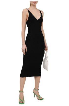 Женское платье из вискозы BALMAIN черного цвета, арт. VF0RH010/K252 | Фото 2 (Длина Ж (юбки, платья, шорты): Миди; Материал внешний: Вискоза; Случай: Повседневный; Рукава: Без рукавов; Женское Кросс-КТ: Платье-одежда)