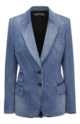 Женский джинсовый жакет TOM FORD голубого цвета, арт. GID050-DEX111 | Фото 1
